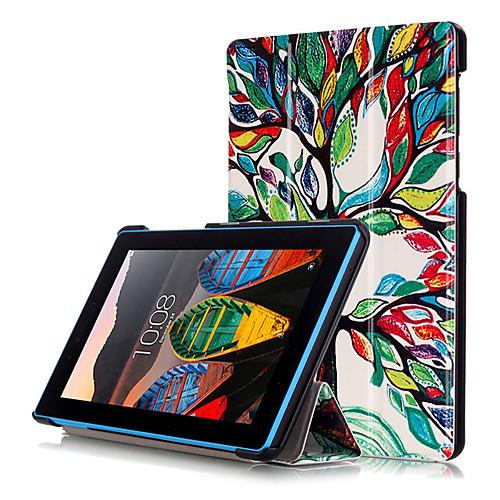 Кейс для Назначение Lenovo Чехол / планшетный случаи Твердый Кожа PU для Lenovo Tab3 7 / Вкладка Lenovo 3 7 Essential (TB3-710F / I)