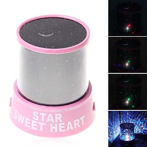 Проектор звёздного неба LED освещение Лампа-проектор Игрушки ABS Романтика 1 Куски Детские Подарок проектор