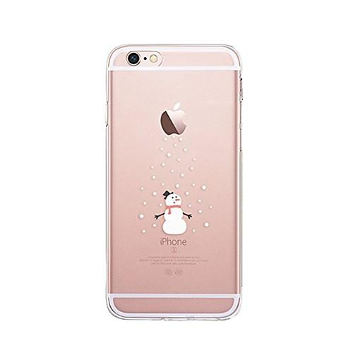 Кейс для Назначение Apple iPhone X iPhone 8 Прозрачный С узором Задняя крышка Рождество Мягкий TPU для iPhone X iPhone 8 Pluss iPhone 8 чехол для для мобильных телефонов cy apple iphone 4 4 g 4s 5 5 g 5s 5c 6 6 for 4 4s 5 5s 5c 6 or 6plus