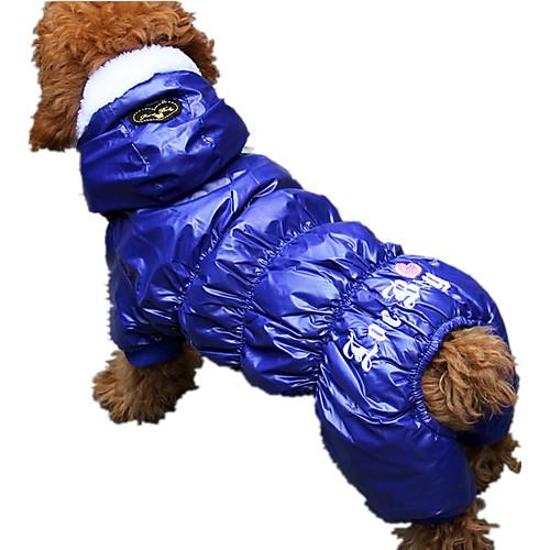 Собака Комбинезоны Одежда для собак С сердцем Серый Красный Синий Хлопок Костюм Назначение Весна & осень Зима На каждый день