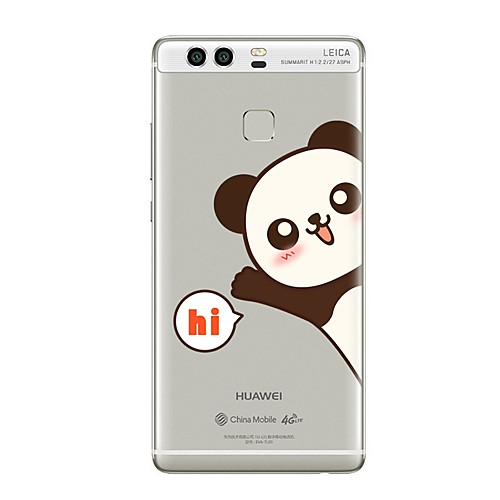 Кейс для Назначение Huawei P9 Huawei P9 Lite Huawei P8 Huawei Huawei P9 Plus Huawei P8 Lite Huawei Mate 8 Прозрачный С узором Кейс на fashionable protective bumper frame case with bowknot for samsung galaxy s4 i9500 white pink