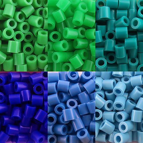 около 500 шт / мешок 5мм предохранителей бусины Hama бисер DIY головоломки Ева материал Сафти для детей (ассорти 6 цветов, b25-b33) бижутерия 40 лет влксм