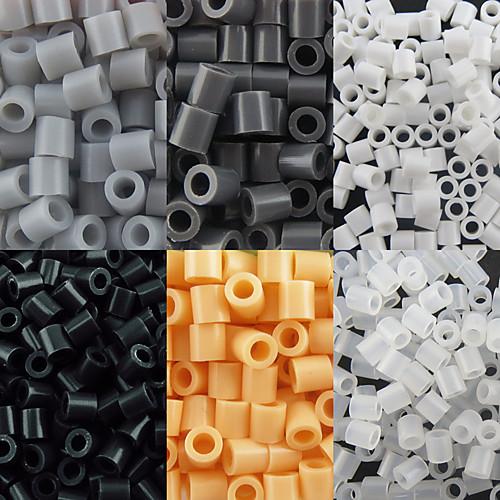 около 500 шт / мешок 5мм предохранителей бусины Hama бисер DIY головоломки Ева материал Сафти для детей (ассорти 6 цветов, b44-b50) бижутерия 40 лет влксм