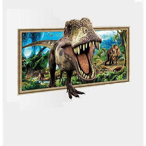 Животные 3D фантазия Наклейки Простые наклейки 3D наклейки Декоративные наклейки на стены 3D, Бумага Винил Украшение дома Наклейка на