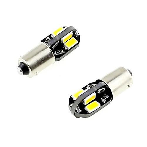 2pcs BA 9S × Автомобиль Лампы 2.5W SMD 5730 260lm Светодиодная лампа Внутреннее освещение лампы освещение