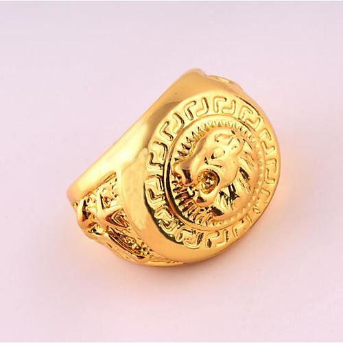 Муж. Кольцо - Позолоченное розовым золотом Уникальный дизайн, Панк 9 / 10 Золотой Назначение День рождения / Бизнес / Подарок бижутерия в подарок