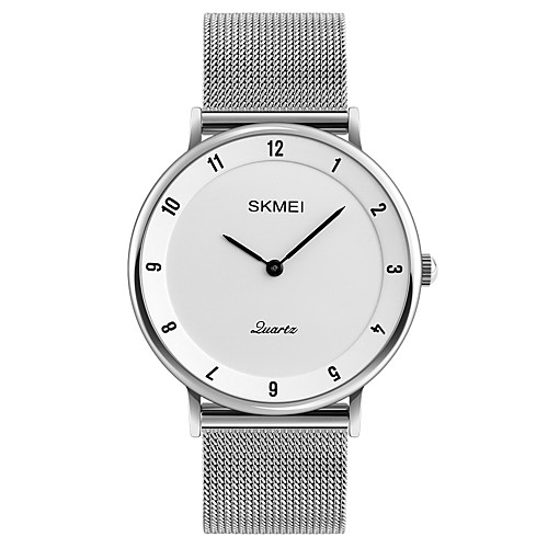 SKMEI Men's Wrist Watch Japanese Quartz Stainless Steel Silver 30 m Water Resistant / Waterproof Cool Analog Classic Casual Fashion Minimalist Cool - Gray Red Blue