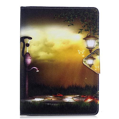 Кейс для Назначение Apple Кошелек / Бумажник для карт / со стендом Чехол Вид на город Твердый Кожа PU для iPad Air / iPad 4/3/2 / iPad Mini 3/2/1 / iPad Pro 10.5 / iPad (2017) фото