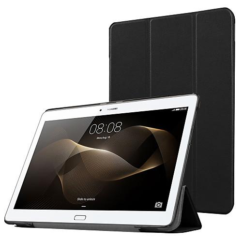 Кейс для Назначение Huawei Чехол / планшетный случаи Однотонный Твердый Кожа PU для Huawei MediaPad M2 10.0(M2-A01W, M2-A01L) фото