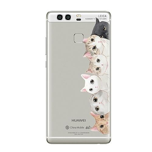 Кейс для Назначение Huawei P9 Huawei P9 Lite Huawei P8 Huawei Huawei P9 Plus Huawei P8 Lite Huawei Mate 8 Прозрачный С узором Кейс на смартфон huawei p9 lite 16gb gold