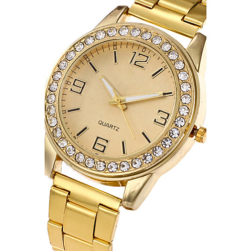 Women's Wrist Watch Diamond Watch Quartz Stainless Steel Silver / Gold / Rose Gold Casual Watch Cool Analog Ladies Charm Luxury Casual Fashion - Gold Silver Rose Gold One Year Battery Life