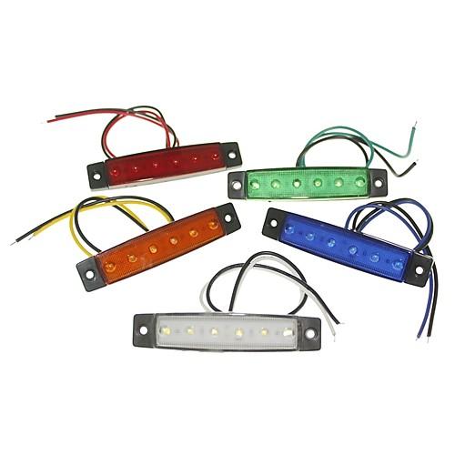 SENCART 1 шт. Грузовик / Мотоцикл / Автомобиль Лампы 1.5W SMD LED 120lm 6 Внешние осветительные приборы For Универсальный Все года цена