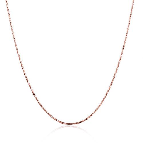 Жен. Прочее Позолота Позолоченное розовым золотом Ожерелья-цепочки - Мода Золотой Серебряный Розовое золото Ожерелье Назначение Для