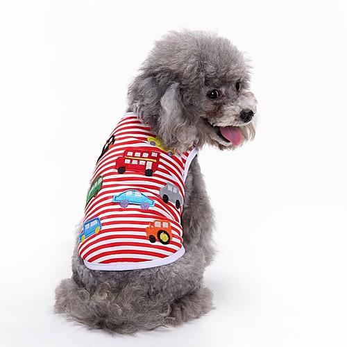 Собака Футболка Жилет Одежда для собак геометрический Красный Хлопок Костюм Для домашних животных Муж. Жен. Для вечеринки На каждый день собака футболка жилет одежда для собак в полоску зеленый синий хлопок костюм для домашних животных муж жен для вечеринки на каждый день