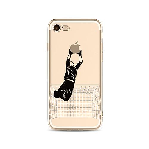 Кейс для Назначение Apple iPhone X iPhone 8 Прозрачный С узором Кейс на заднюю панель Композиция с логотипом Apple Мягкий ТПУ для iPhone чехол для для мобильных телефонов cy apple iphone 4 4 g 4s 5 5 g 5s 5c 6 6 for 4 4s 5 5s 5c 6 or 6plus