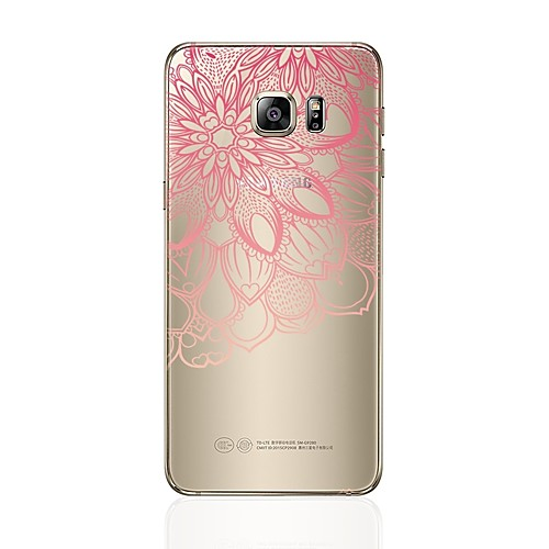 Case For Samsung Galaxy S8 Plus / S8 Transparent / Pattern Back Cover Heart / Lace Printing Soft TPU for S8 Plus / S8 / S7 edge