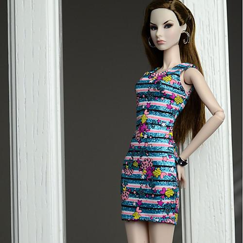 Платья Платья Для Barbiedoll Шелково-шерстяная ткань Платье Для Девичий игрушки куклы фото