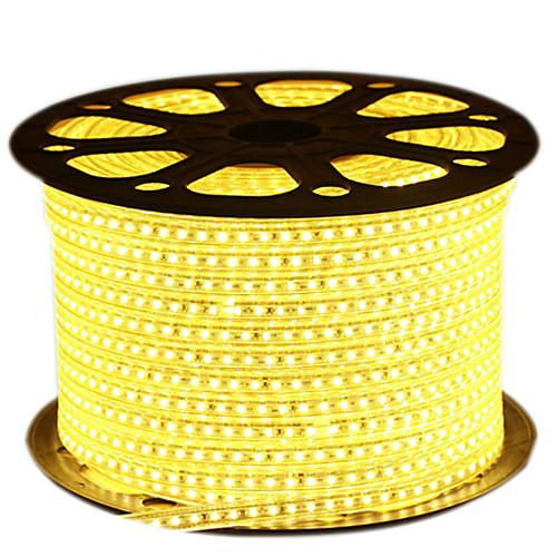 HKV Гибкие светодиодные ленты 600 светодиоды Тёплый белый Белый Синий Можно резать Водонепроницаемый 220.0