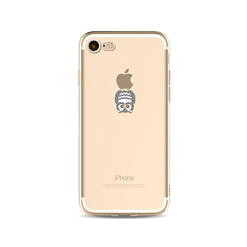 Кейс для Назначение Apple iPhone X iPhone 8 С узором Кейс на заднюю панель Композиция с логотипом Apple Сова Мягкий ТПУ для iPhone X чехол для для мобильных телефонов cy apple iphone 4 4 g 4s 5 5 g 5s 5c 6 6 for 4 4s 5 5s 5c 6 or 6plus