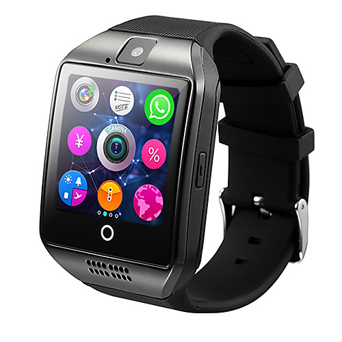 Q18 Smart Watch BT Fitness Tracker Support Notify/ Heart Rate Monitor/ Hands-Free Calls with Camera & SIM-card Slot Sports Smartwatch Compatible Samsung/ Android/ Iphone