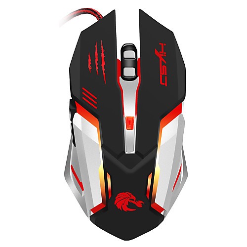 S100 Проводное Gaming Mouse DPI Регулируемая Подсветка 1200 / 1600 / 2400 / 3200/5500 baodi g20 1200 1600 2400 dpi usb wired optical game mouse w colorful light black