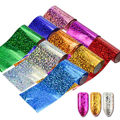 9pcs/set Наклейки и ленты / Наклейка для фольги / Наклейка для ногтей Роскошное сияние / Наклейки для ногтей / Аксессуары для инструментов Nail Art DIY Дизайн ногтей наклейки для ногтей f9s 12 56754