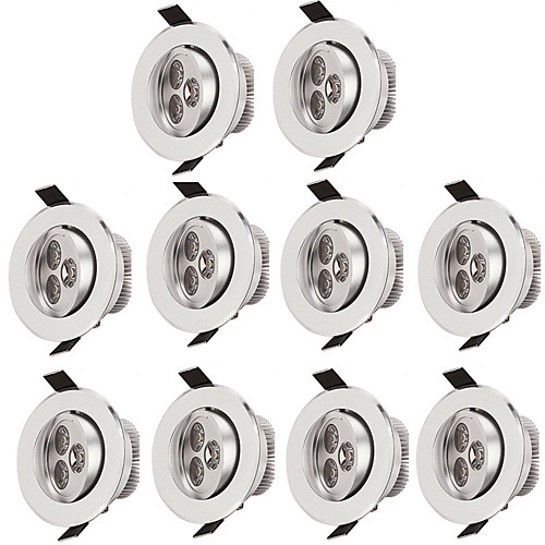 Купить со скидкой 10 шт. 3 W 300 lm 3 Светодиодные бусины Простая установка Встроенные Потолочный светильник Тёплый бе