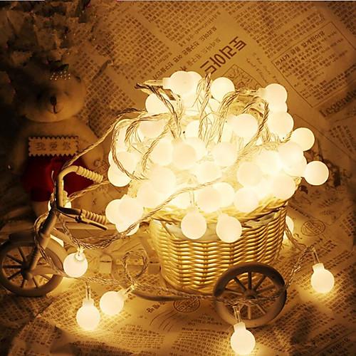 10 м 100 светодиодов шарообразных струнных светильников ac220v праздничные украшения лампы фестиваль рождественские огни наружное освещение фото