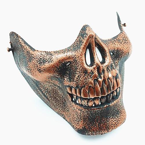 череп скелет airsoft пейнтбол наполовину лицо защитное снаряжение маска охранник Хэллоуин маскарад косплей вечеринка костюм костюм хэллоуин волк голову маска латексная головных уборов костюм косплей смешные украшения