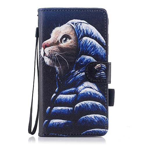 Case For Samsung Galaxy J7 (2017) / J5(2016) / J3 (2017) Wallet / Card Holder / with Stand Full Body Cases Cat Hard PU Leather for J5 (2017) / J5 (2016) / J3 (2017)