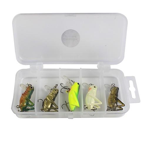 5 штук Набор для рыбалки Жесткая наживка пластик Углеродистая сталь Морское рыболовство Ловля на приманку Ловля со льда Спиннинг Ловля на
