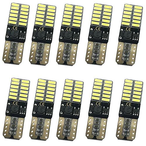 10 шт. T10 Автомобиль Лампы 12W SMD 4014 1000lm 24 Внешние осветительные приборы For Универсальный Все модели Все года цена