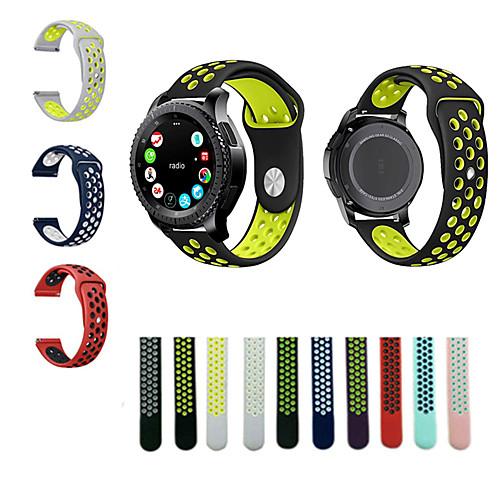 Купить со скидкой Ремешок для часов для Gear S3 Frontier / Gear S3 Classic Samsung Galaxy Спортивный ремешок силиконов