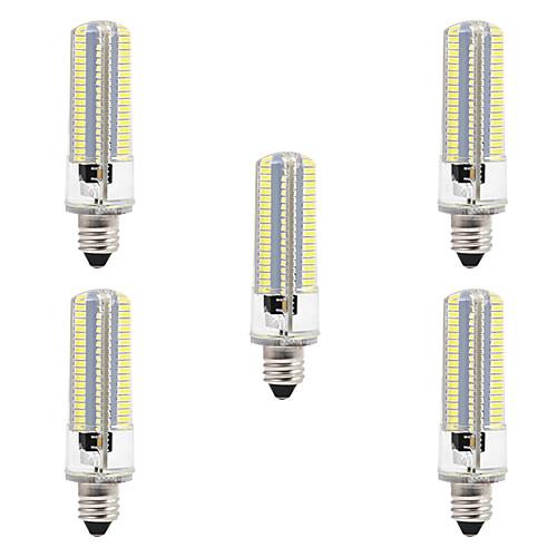 BRELONG 5 шт. 8W 700lm E14 LED лампы типа Корн 152 Светодиодные бусины SMD 3014 Диммируемая Тёплый белый Белый 220V 110V