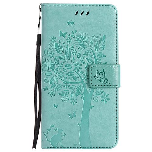 Кейс для Назначение ZTE Бумажник для карт Кошелек со стендом Флип С узором Чехол Кот дерево Твердый Кожа PU для ZTE AXON 7 zte axon 7 mini 4g smartphone