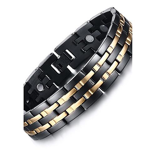 Муж. Браслеты-цепочки и звенья / Браслет цельное кольцо / Магнитные браслеты - Титановая сталь Природа, Мода Браслеты Черный Назначение Подарок / Повседневные муж жен strand браслеты магнитные браслеты свисающие природа простой стиль мода браслеты черный назначение повседневные для улицы