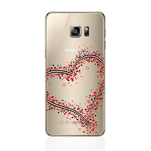 Case For Samsung Galaxy S8 Plus / S8 Transparent / Pattern Back Cover Heart Soft TPU for S8 Plus / S8 / S7 edge