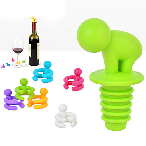 Винные пробки Пластик, Вино Аксессуары Высокое качество творческийforBarware 1.01.01.0cm см 0.095kg кг товары для кухни