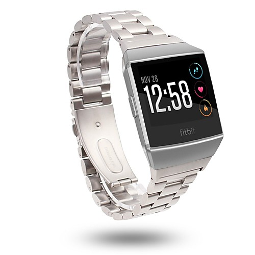 Watch Band for Fitbit ionic Fitbit Classic Buckle Stainless Steel Wrist Strap