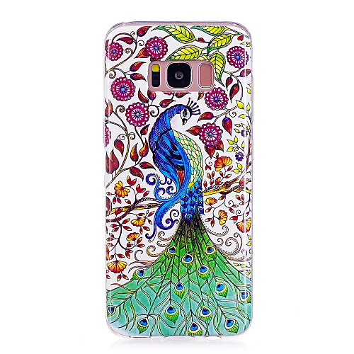 Case For Samsung Galaxy S8 Plus / S8 Glow in the Dark / IMD / Pattern Back Cover Animal Soft TPU for S8 Plus / S8 / S7 edge