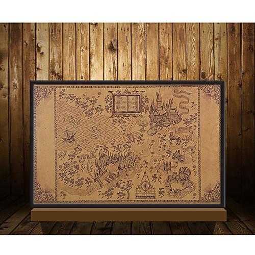 карта волшебного мира Гарри Поттер фильм плакаты украшение бескаркасный восстановление древних путей стены стикеры