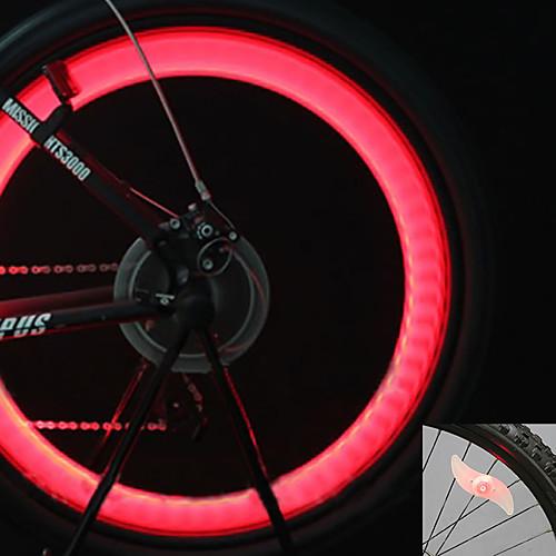 Велосипедные фары / Колесные огни / колесные огни Светодиодная лампа Велоспорт подсветка Батарейки таблеточного типа Батарея Велосипедный спорт / мотоцикл