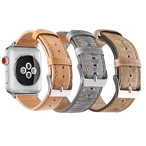 Ремешок для часов для Apple Watch Series 4/3/2/1 Apple Спортивный ремешок Натуральная кожа Повязка на запястье фото