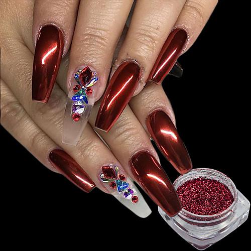 1pcs порошок / Порошок блеска / Гель для ногтей Элегантный и роскошный / Зеркальный эффект / Блеск и сияние Дизайн ногтей