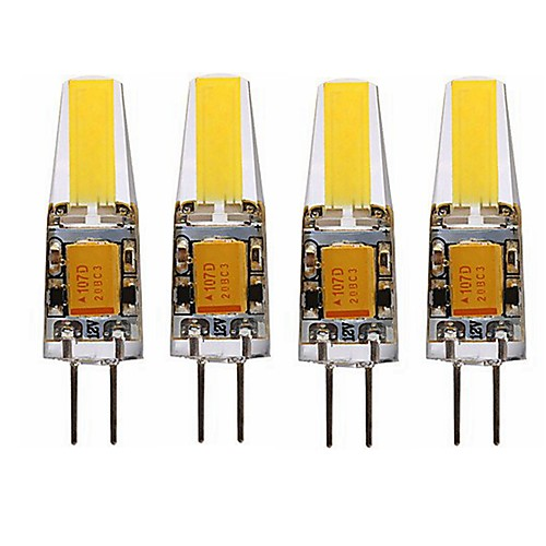 SENCART 4шт 4 Вт. 3000-3500/6000-6500 lm G4 LED лампы типа Корн T 1 светодиоды Integrate LED Водонепроницаемый Декоративная Тёплый белый