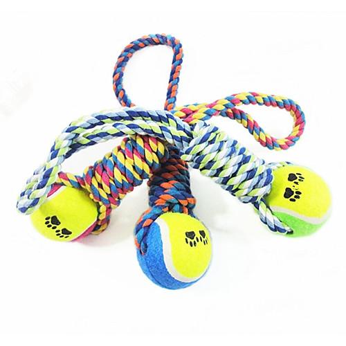 Собака Игрушка для собак Игрушки для животных Жевательные игрушки Мячи для тенниса Хлопок Для домашних животных игрушки для животных zoobaloo игрушка для кошки бамбук меховой мячик на резинке 60см
