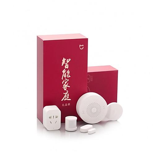 xiaomi mijia 5 в 1 умный домашний комплект безопасности многофункциональный шлюз / интеллектуальная розетка / беспроводной переключатель / датчик человеческого тела / датчик окна и двери