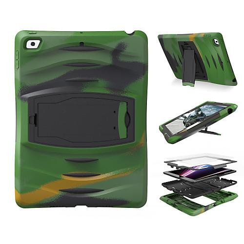 Кейс для Назначение Apple iPad Mini 4 iPad Mini 3/2/1 iPad 4/3/2 iPad Air 2 iPad Air Защита от удара со стендом Чехол Сплошной цвет чехол для планшета oasis apple ipad 2 ipad air2 1 for ipad air 2 1