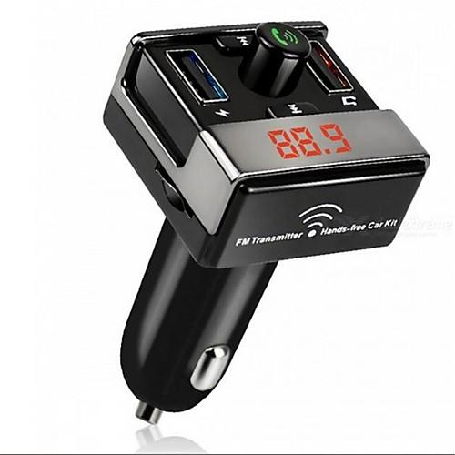 dual usb bluetooth hands-free mp3 audio player автомобиль fm передатчик поддержка tf карта usb флеш-диск для android ios me3l инфракрасный порт для android