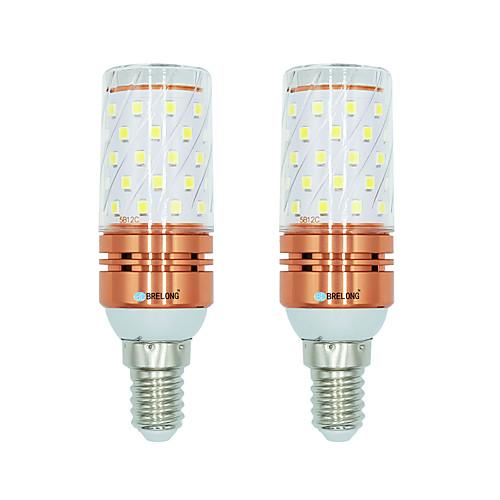 BRELONG 2pcs 12W 1000lm E14 LED лампы типа Корн T 60 Светодиодные бусины SMD 2835 Тёплый белый Белый Двойной цвет источника света